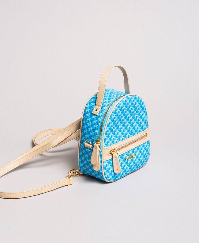 Minirucksack mit Schmetterlingsprint Motiv Mikonos Hellblaue Schmetterlinge Frau 191TA7176-01