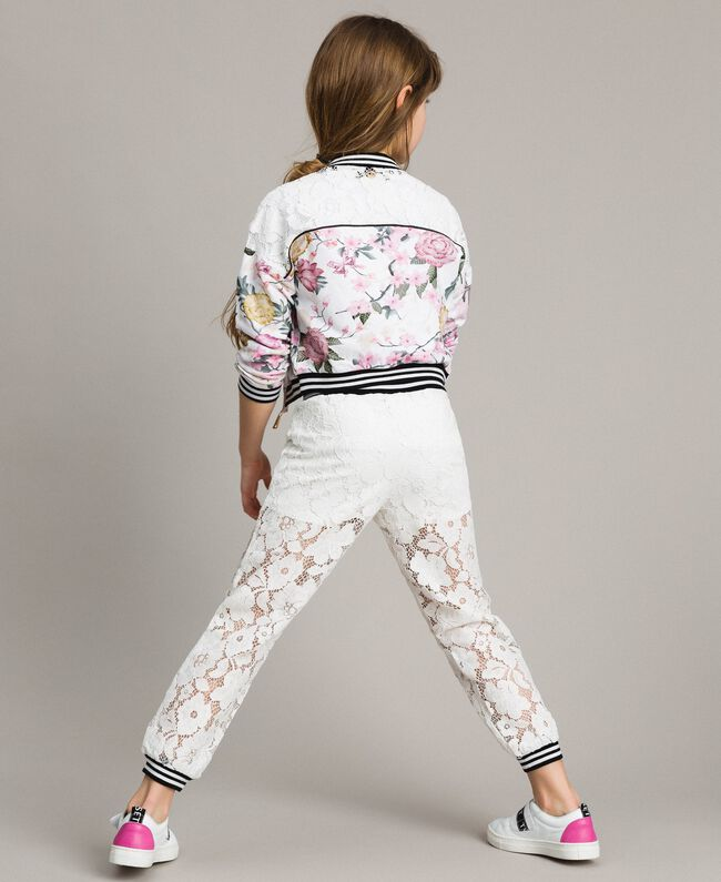 Fleece floral tracksuit and lace Ramage Butterfly Print Child 191GJ2131-03
