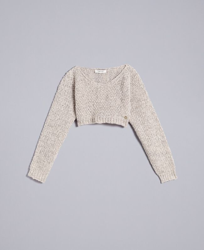 Pull court en lurex Or Lurex Enfant GA83FN-01
