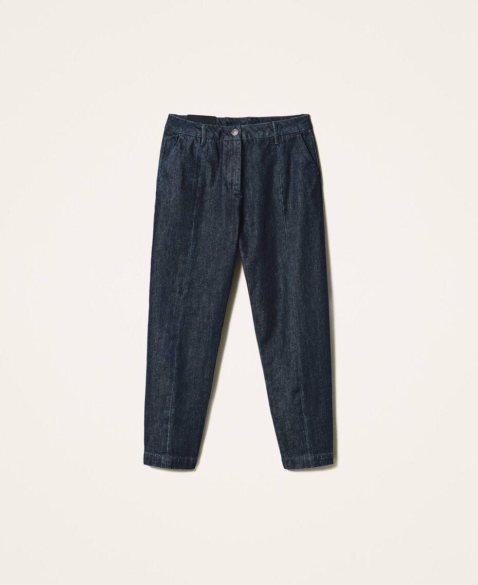 Tapered fit jeans Dark Denim Woman 202MP2071-0S