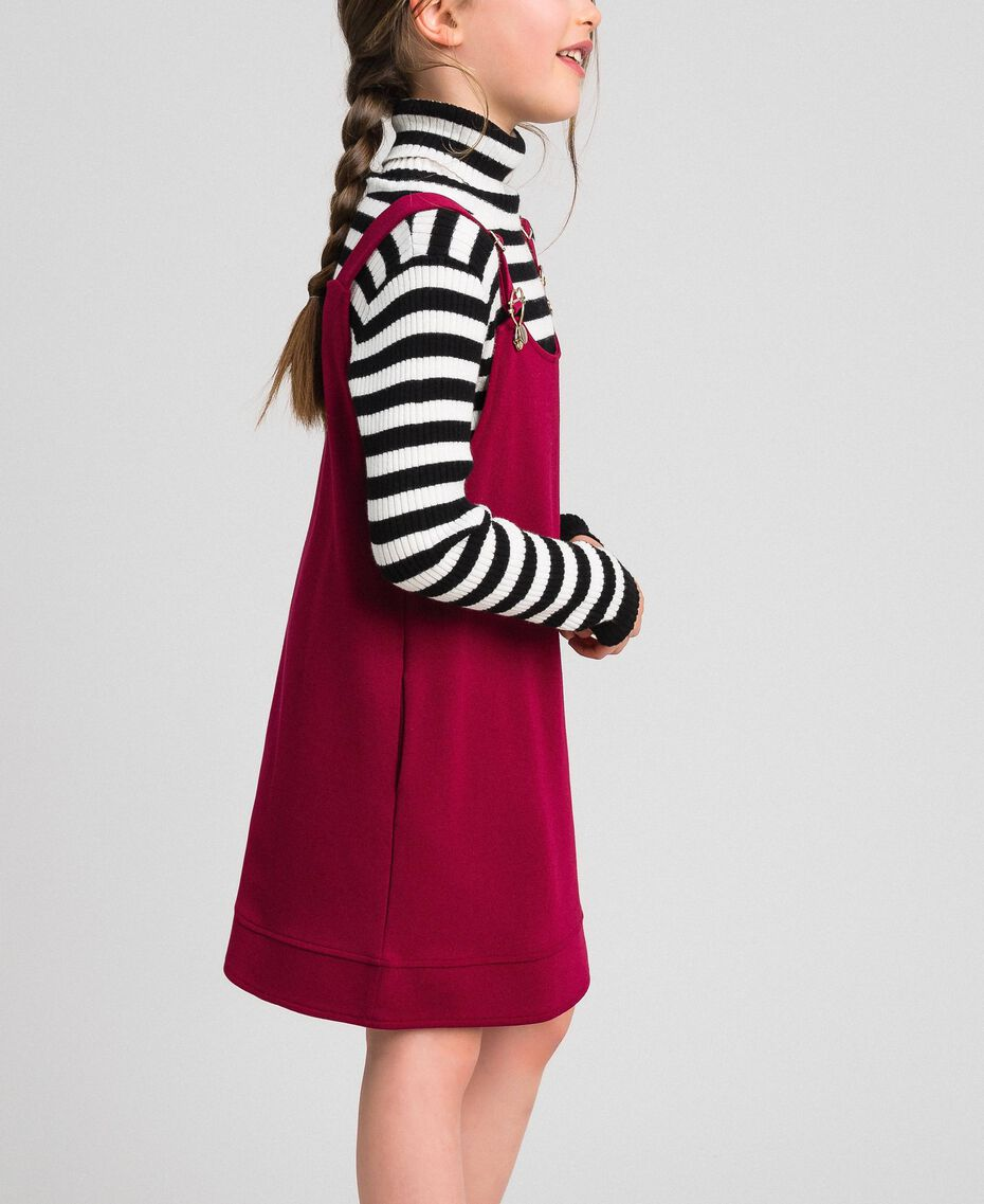 Jupe-salopette avec poches Rouge Ruby Wine Enfant 192GJ2223-02