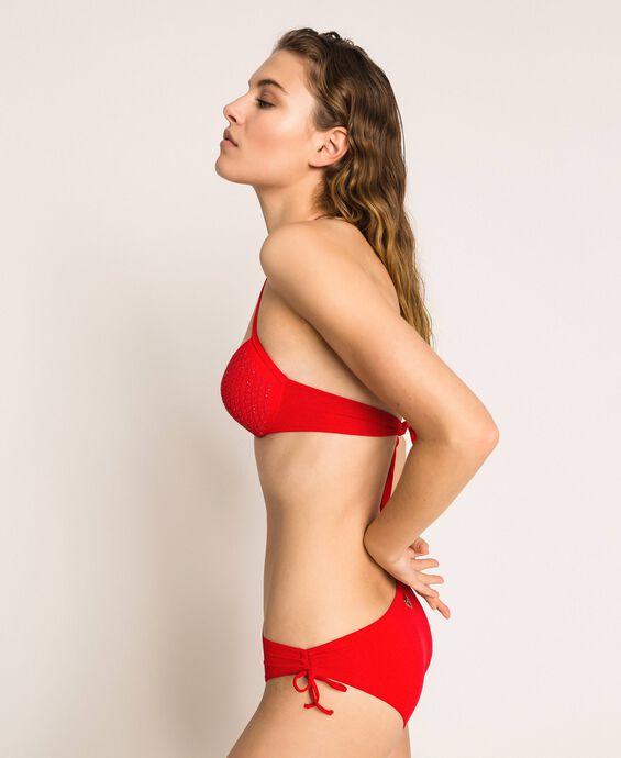 Bikini bottom with drawstring and laces
