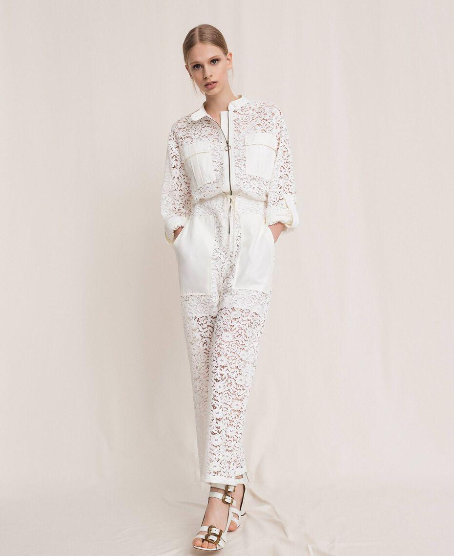 Macramé lace jumpsuit Black Woman 201TP2195-01