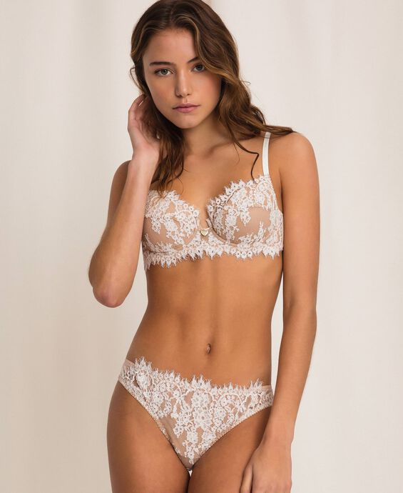 Lace and tulle Brazilian briefs