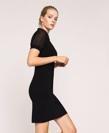 Robe fourreau en maille stretch Noir Femme 201MP3032-02