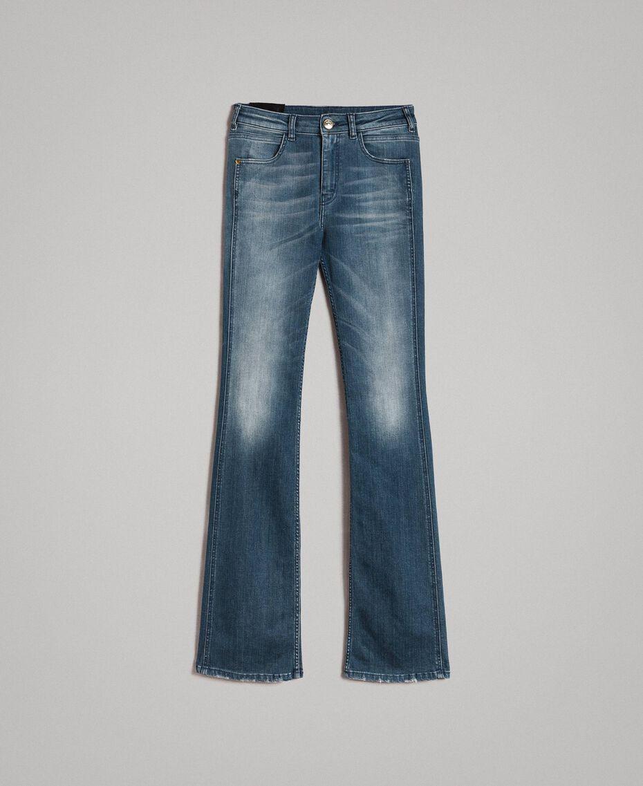 Fadeout bell bottom jeans Denim Blue Woman 191MP2475-0S