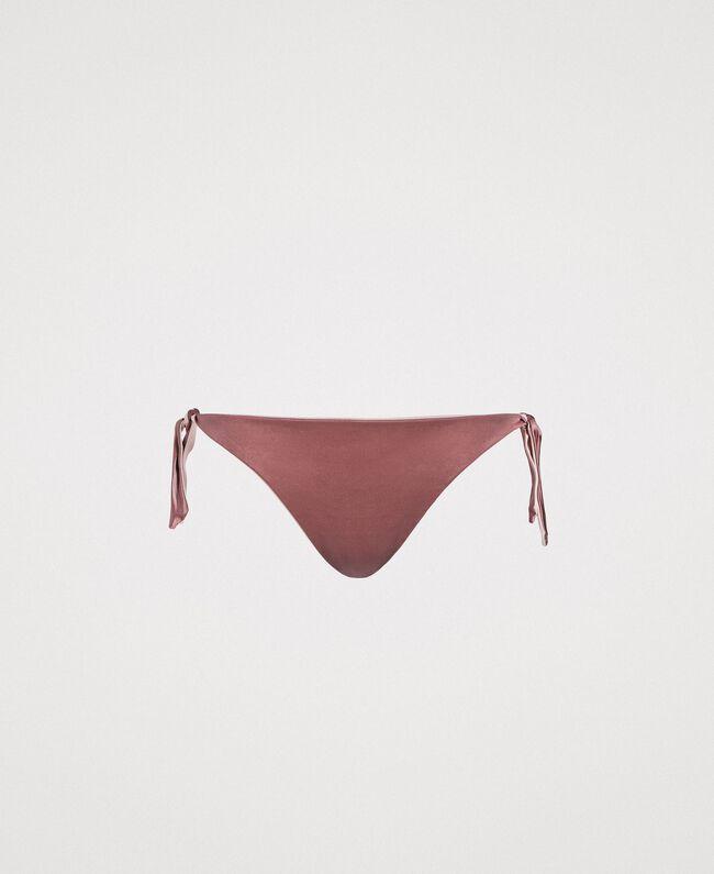 "Bas de bikini tanga réversible Marron ""Poudre De Bronze"" Femme 191LBM1ZZ-01"