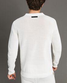 Cotton-blend jumper Matte White Man 191UT3082-03