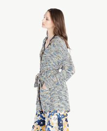 Oversized cardigan Multicolour Printed Yarn Woman SS83CB-02