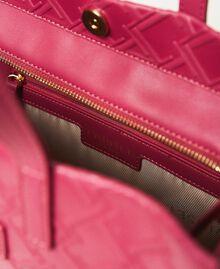 "Borsa shopper Twinset Bag media con logo Viola ""Red Plum"" Donna 202TB7161-06"