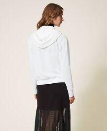 Scalloped lace sweatshirt White Woman 202LI2NHH-04
