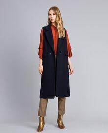 """Pantaloni a sigaretta in misto lana Jacquard Quadretti Arancione """"Bruciato"""" Donna TA821P-0T"""