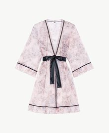 Tulle dressing gown Pinkie Sugar Macrofloral Print Woman LS8DLL-01
