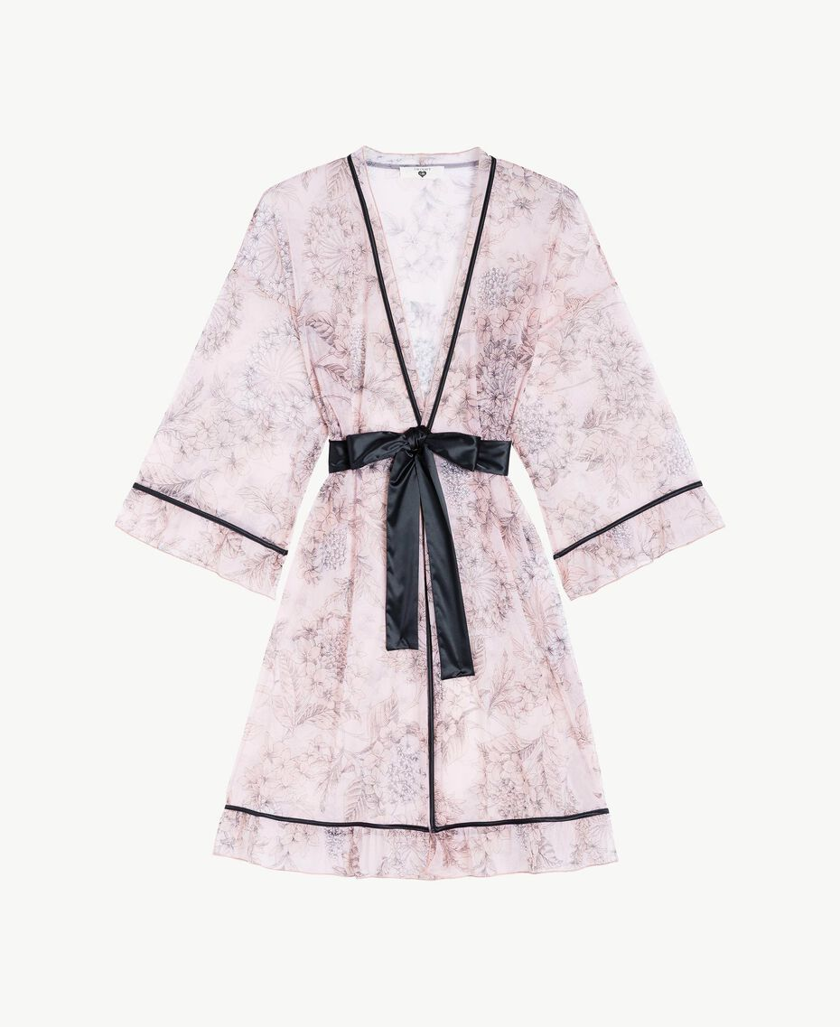 Robe de chambre tulle Imprimé Grande Fleur Pinkie Sugar Femme LS8DLL-01