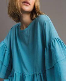 """Bluse mit weiten Ärmeln und Volants """"Daylight Blue"""" Blau Frau 191LM2HCC-04"""