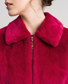 Faux fur bomber jacket Red Amaranth Woman 192MP2042-04
