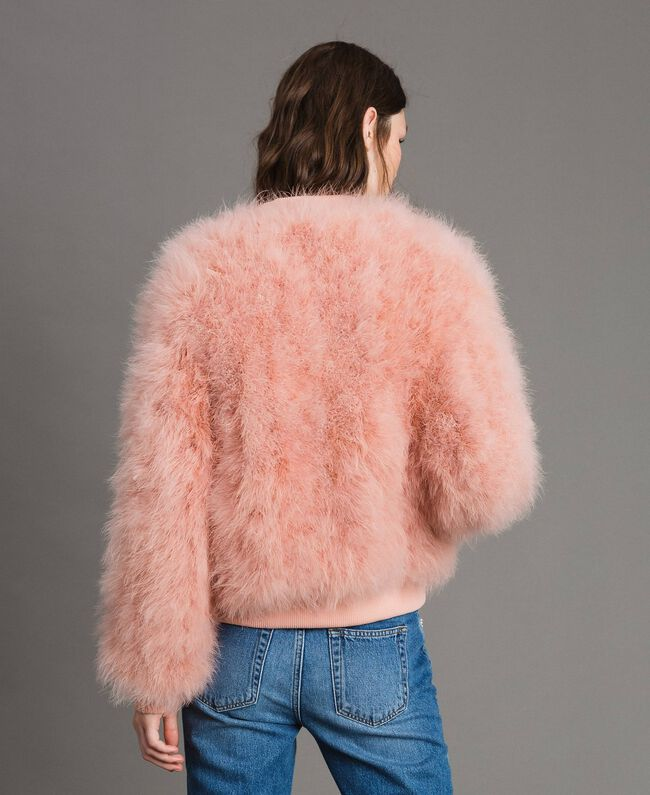 Feather bomber Pink Pearl Woman 191TP2080-04