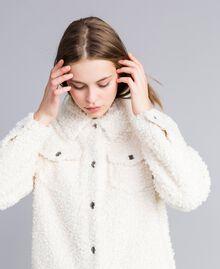 Куртка-кабан из искусственной кожи ягненка Перламутр женщина JA82KG-04