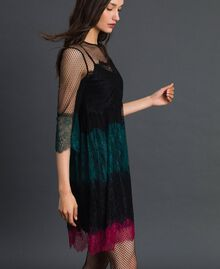 Dress with colour block lace Block Colour Woman 192TP2703-02