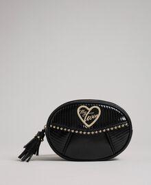 Поясная сумка из искусственной кожи с заклепками и кисточкой Черный женщина 192MO8015-04