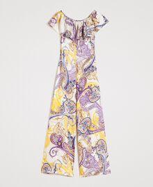 """Combinaison longue avec motif cachemire Imprimé Paisley / Beige """"Voie Lactée"""" Femme 191LM2SDD-0S"""