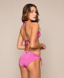 Triangle bikini top with hearts Flirty Rose Print Woman 201LBMCXX-03