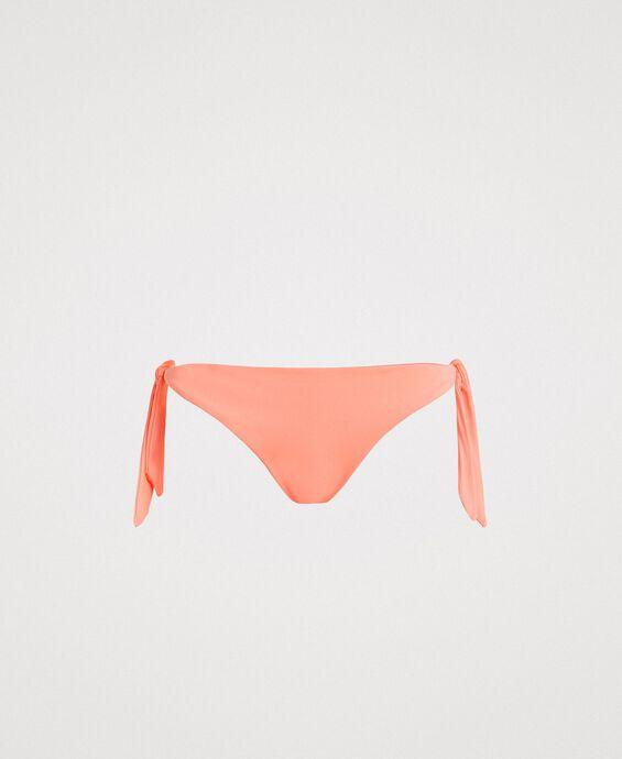 Bas de bikini tanga avec lacets