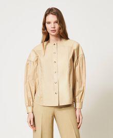 "Poplin shirt with inserts ""Cuban Sand"" Pink Woman 211TT2491-05"