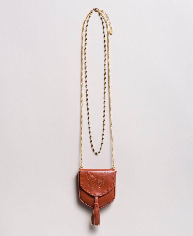Halskette mit Leder-Münz-Portemonnaie Leder Frau 191TO5345-01