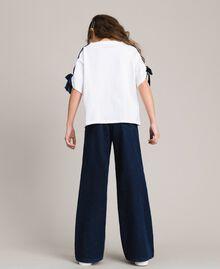 Jeans mit weitem Bein Dunkles Denim Kind 191GJ2600-03