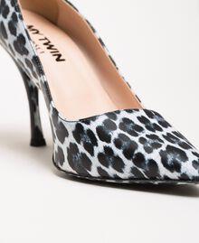 Туфли-лодочки с животным принтом Принт Животный Лилия / Черный женщина 201MCP01N-04