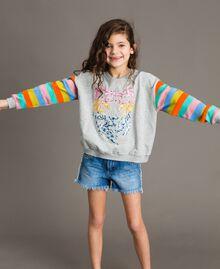 "Denim shorts with embroidery ""Mid Denim"" Blue Child 191GJ2481-02"