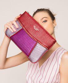 Mehrfarbige Pochette aus Lederimitat Multicolor Rot / Pink / Fuchsia Frau 201MA7025-0S
