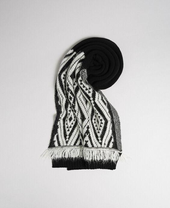 Écharpe en laine et cachemire avec franges