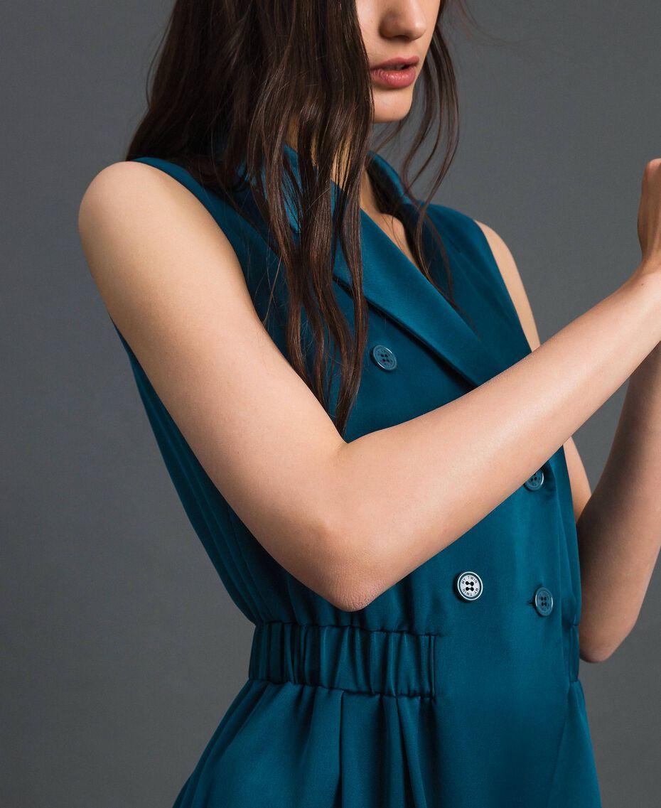 Combinaison croisée avec ceinture Bleu «Lake» Femme 192MP2350-05