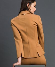 Double breasted slim fit jacket Irish Cream Hazelnut Woman 192MP2170-03