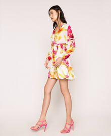 Vestido de georgette de flores Estampado Hibiscus Nieve Mujer 201TT2492-0T