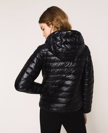 Ultralight puffer jacket with sequins Black Woman 201ST2120-03