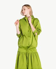 "Technical fabric jacket ""Lime"" Green Woman PS82J5-01"