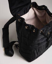 Sac à dos matelassé avec charms et logo Noir Femme 192TO8062-05
