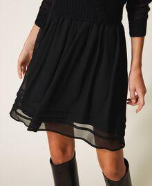 Robe nuisette et pull en mohair Noir Femme 202TP3262-04