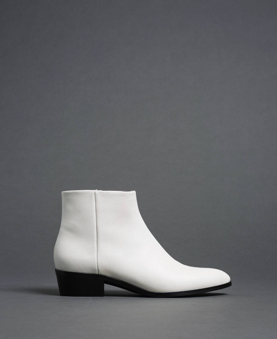 Leather ankle boots Off White Woman 192TCP12N-02