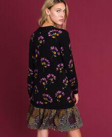 Abito in lana stampata con ricamo Stampa Mix Flower Black Donna 192TT3340-03