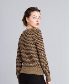 Pull en jacquard lurex Jacquard Camel Lurex Femme PA835C-03