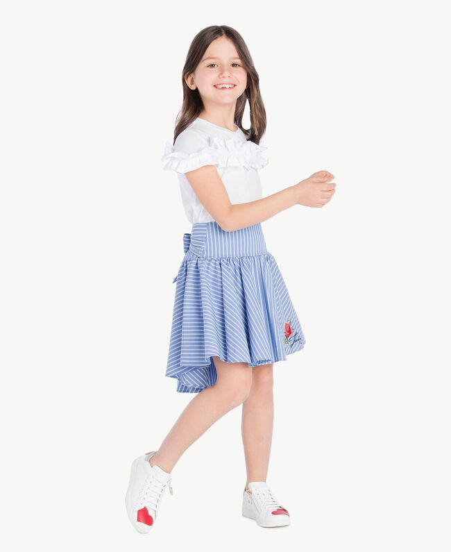 Poplin skirt Infinite Light Blue Jacquard Child GS82LQ-05