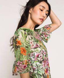 Vestido con estampado de flores Estampado Jungle Flowers Nieve Mujer 201TT2482-04