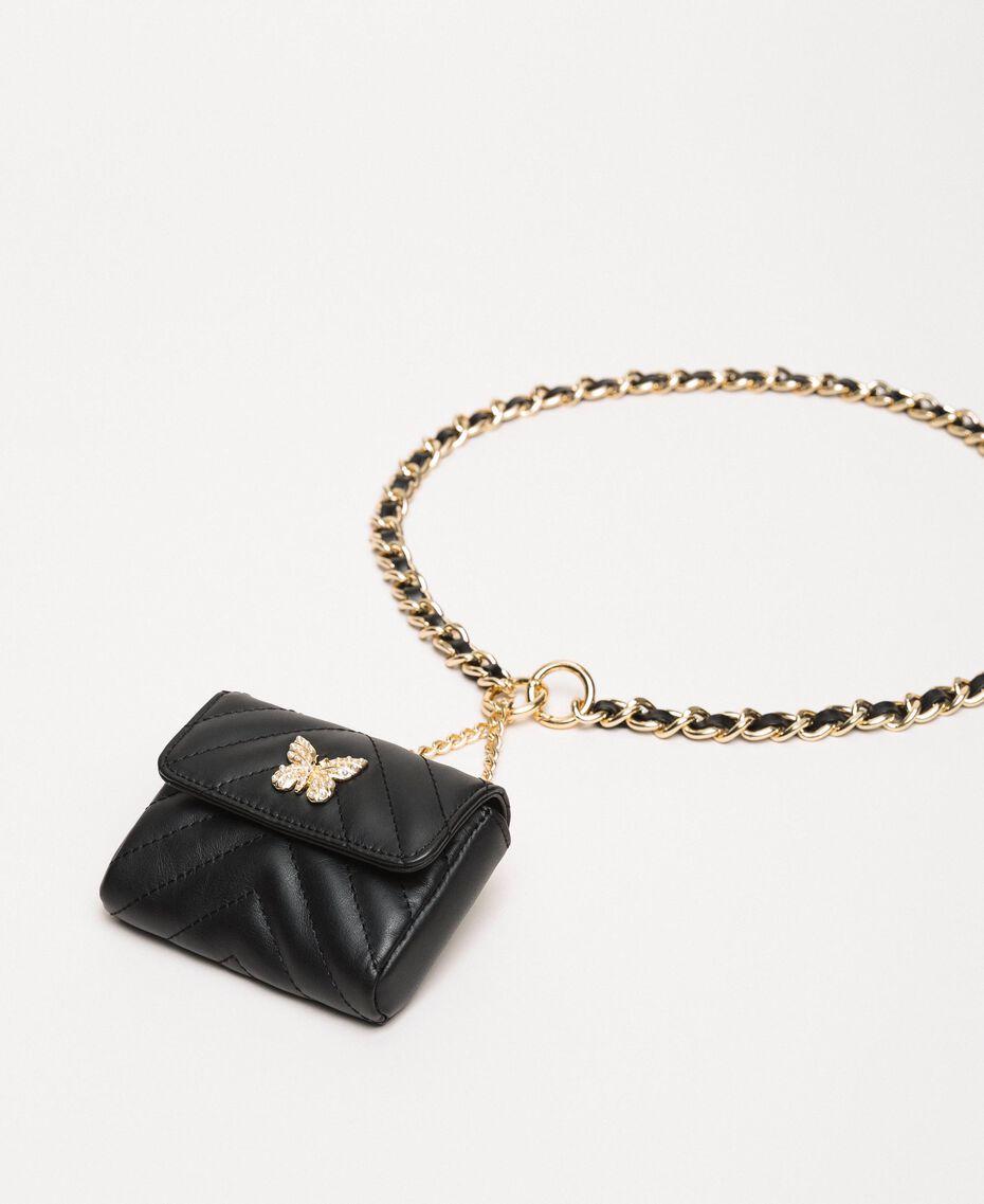 Cinturón con cadena y monedero Gris Titanio Mujer 201TA4347-02