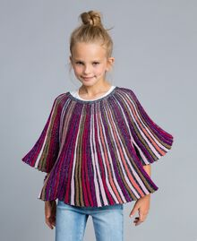 Maglia in lurex multicolor Multicolor Lurex Bambina GA83KN-0S