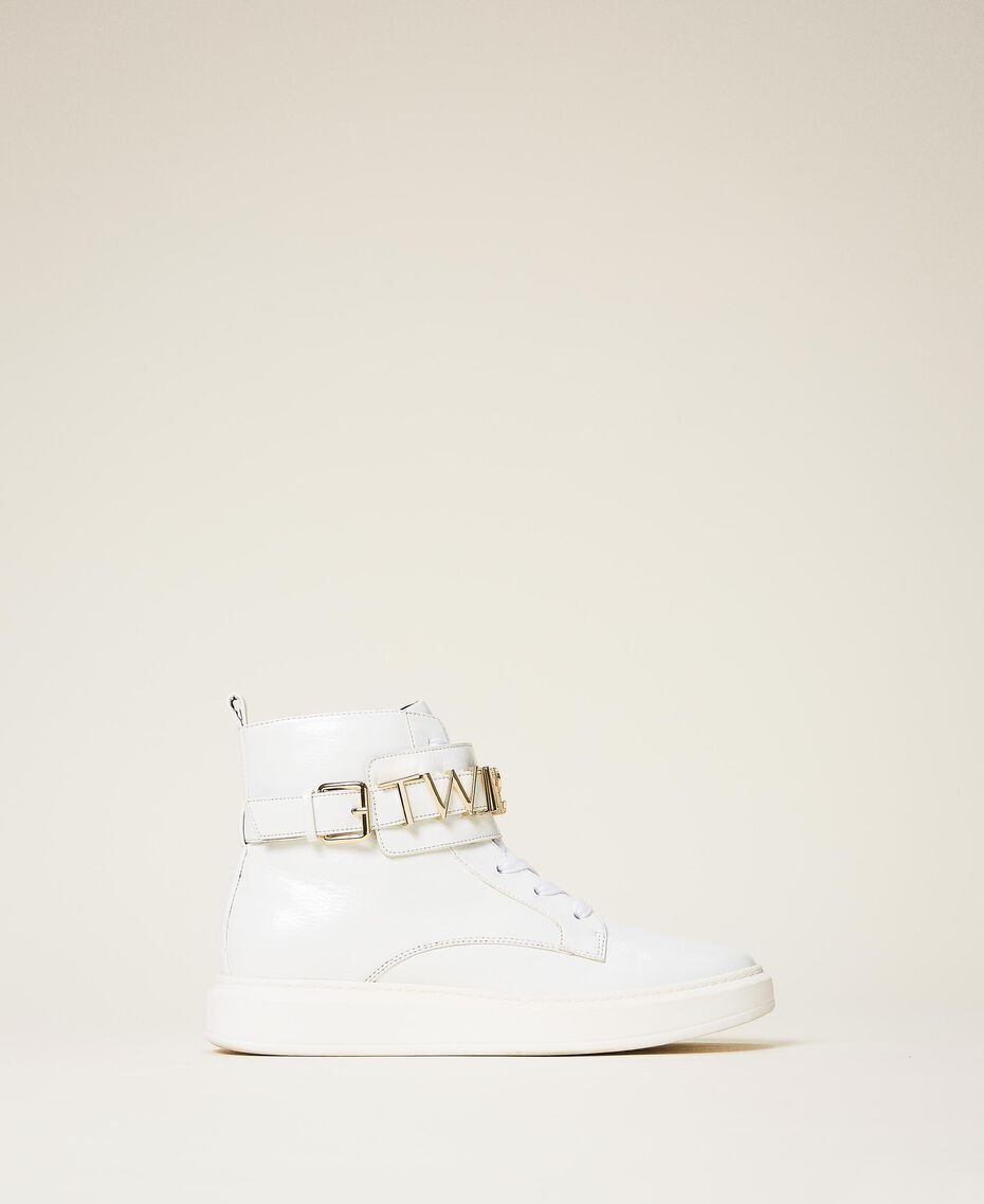 High top trainers with logo White Woman 202TCP030-03