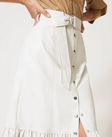 Midi skirt with flounce Vanilla White Woman 211MT2161-04
